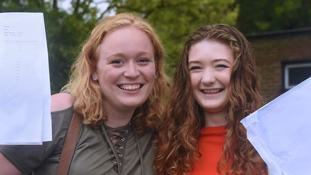 Chantelle Lee, left, will be going to Cambridge University and Lauren Coleman was delighted to be ac