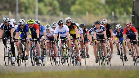 Army peloton races in Woodbridge. Pictures by Sgt Russ Nolan RLC.