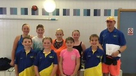Some of the Diss Otters swimmers who did the club proud. Picture: Club