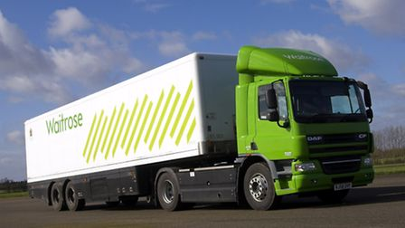 A refrigerated lorry equipped by Otley-based Hubbard Products for supermarket chain Waitrose.