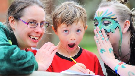 Mischievous dragons are causing havoc at Worlingworth Primary School to encourage pupils' creative w