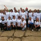 The skydiving group who carried out the leapt in aid of the Forget Me Not campaign.