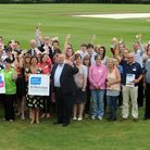 The launch of the St Nicholas Hospice Care Towergate Accumulator Challenge at the Victory Ground in