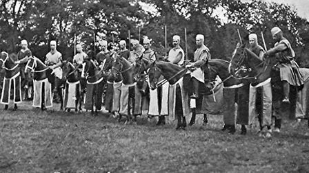 A picture supplied by the Bury Magna Carta 800 committee of the 1907 pageant in Bury. Showing the Ba
