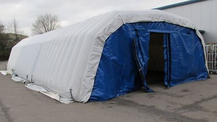 A custom made tent for chilling food has been stolen