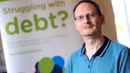 Darren Bullen, manager of the West Suffolk branch of Christians Against Poverty (CAP).