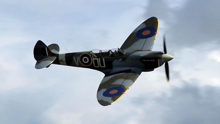 The Grace Spitfire flying over Bentwaters