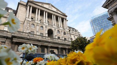 The Bank of England in London. Inflation remained within the bank's 2.0% target last month, officia