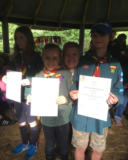 Kenninghall Cubs with 'silver' awards. Picture: Courtesy Kenninghall Scouts