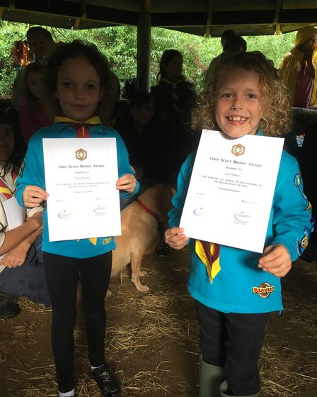 Kenninghall Beavers with 'bronze' awards. Picture: Courtesy Kenninghall Scouts