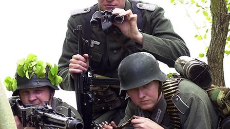 Re-enactors to feature at Colchester Military Tournament. A German MG-42 machine gun team