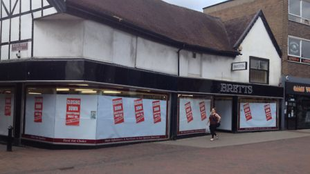 Bretts furniture store in Westgate Street, Ipswich, which is holding a closing down sale
