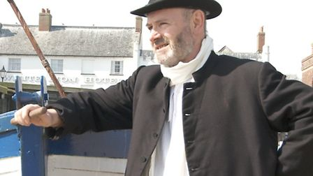 Steve Roche as George Crabbe in the new play The Edge of the Sea, The Dark of the Sky by Suzanne Haw