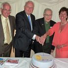 Adrian Williams, Chairman of the Board of Trustees; Martyn Lewis; Hospice founder and President Cano