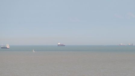 Search and Rescue operation off the coast of Felixstowe.