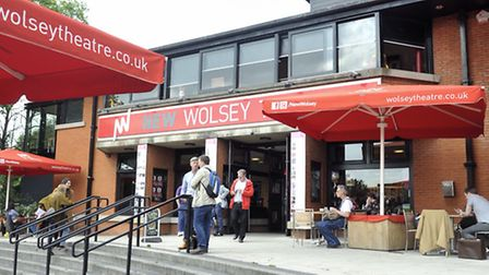 Theatre goers eat at the New Wolsey Theatre Cafe.