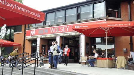 Theatre goers at the New Wolsey Theatre