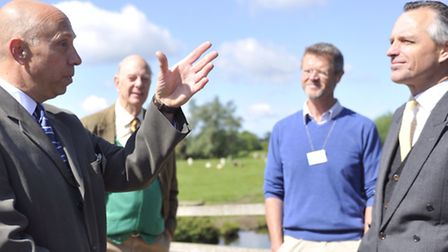 Rick Vont, from RSPB, talks with Robert Erith, Chairman of the AONB Partnership, John Blair, from Fi