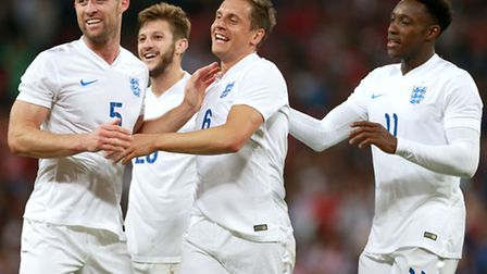 Fans will be cheering on the national team in Brazil. England's Phil Jagielka (centre) celebrates sc