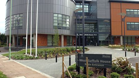 The West Suffolk House council offices in Bury St Edmunds