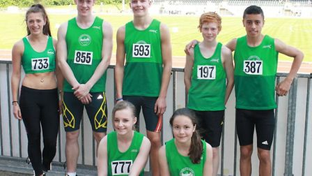 A group of Colchester Harriers who enjoyed success at the recent Essex County Championships