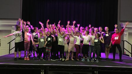 Fifty children auditioned for parts in this year's panto, Aladdin at The Corn Hall. Picture: Lucy Be
