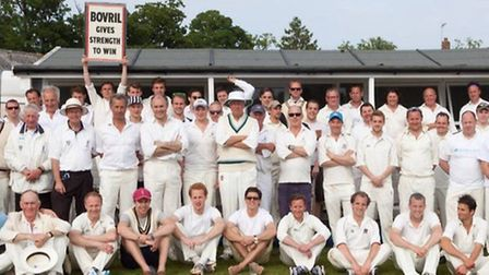 Competitors in the charity cricket tournament held at Brandeston Hall School
