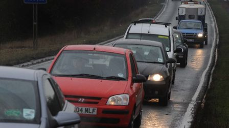 Traffic queuing on the A120