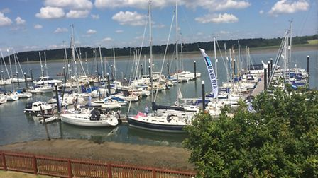 Woolverstone Marina during the weekend of the first East Anglian Boat Show.