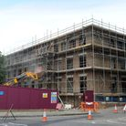 Building work at New Shire Hall in Bury.