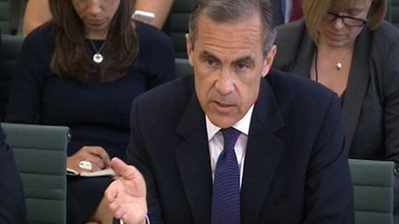 Bank of England governor Mark Carney giving evidence to the Commons Treasury Committee at Portcullis