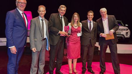 The presentation of the Engaging Customers on Sustainability award at the Business in the Community