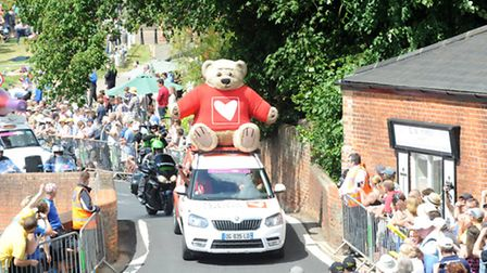 Thousands of people flocked to Finchingfield to watch the Tour de France go through.