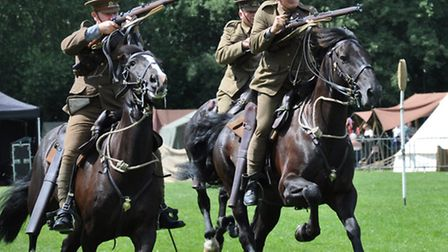 Colchester Military Tournament 2014, 16th Lancers with rifles
