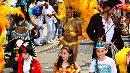 The procession at this year's Colchester Carnival