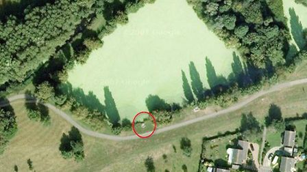 Map showing the location of the couple close to where James Attfield was found