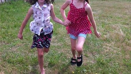 Ella Jarvis and Amber Runnels-Moss at West Stow