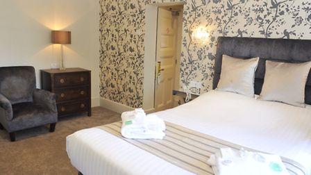 A refurbished double bedroom at the Orwell Hotel in Felixstowe.