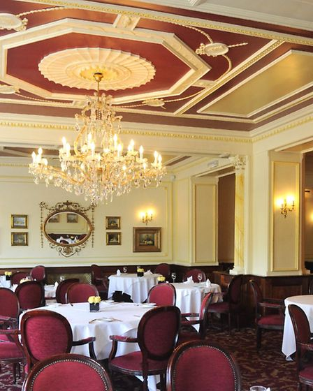 The Westerfield Restaurant at the Orwell Hotel in Felixstowe.
