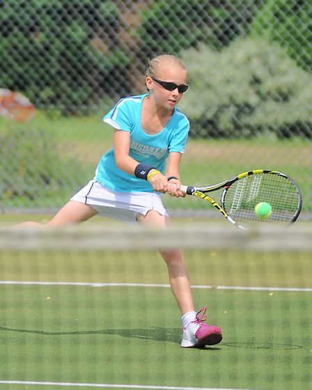 Ipswich Parks tennis tournament. Pictured is Bethan Fothergill.