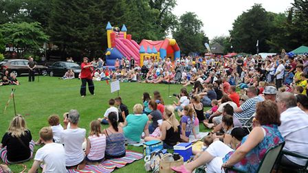 The Party in the Park event in Belle Vue Park in Sudbury.