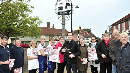 Ross Turner meets up with local Businesses and Residents of Wickham Market ahead of a previous beer