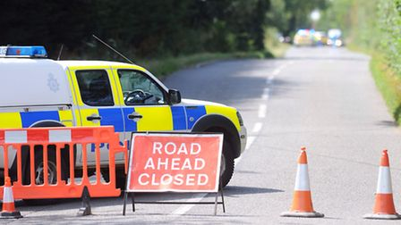 Police blocked off part of the B1078 in Otley after the accident.