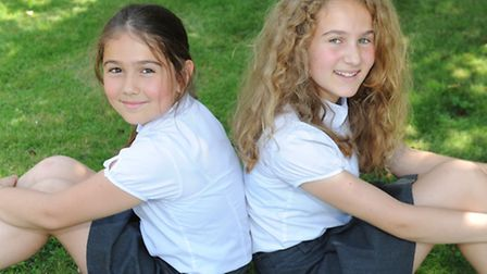 Rosy and Lily Constanti, of Sir Robert Hitcham's are setting off for the Edinburgh Festival to perfo