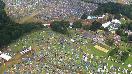 Aerial pic of Latitude Festival 2014 - Mike Page