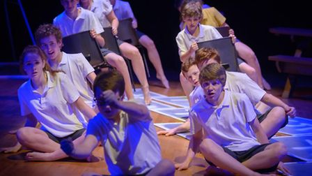 Framlingham College students performing in the triple bill production