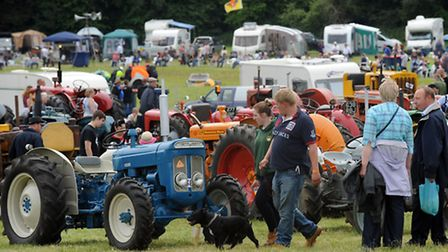 The Long Melford vintage rally in the grounds of Melford Hall.