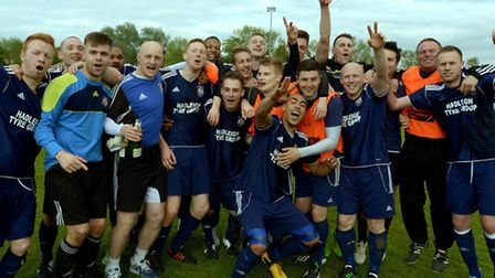 Hadleigh United, Eastern Counties League Premier Division champions 2013/14