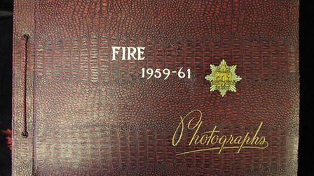 One of the albums up for auction at Lockdales depicting the work of firefighters in Ipswich in the 5