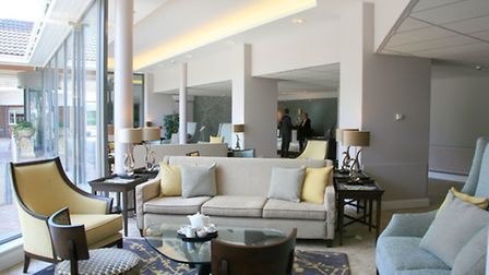 Stoke by Nayland Hotel, Golf & Spa's new contemporary style lobby area